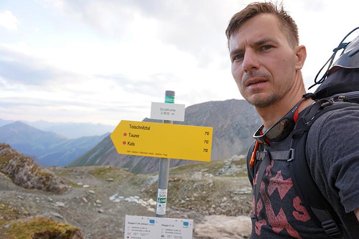 schronisko Stüdlhütte (wysokość 2802 m)