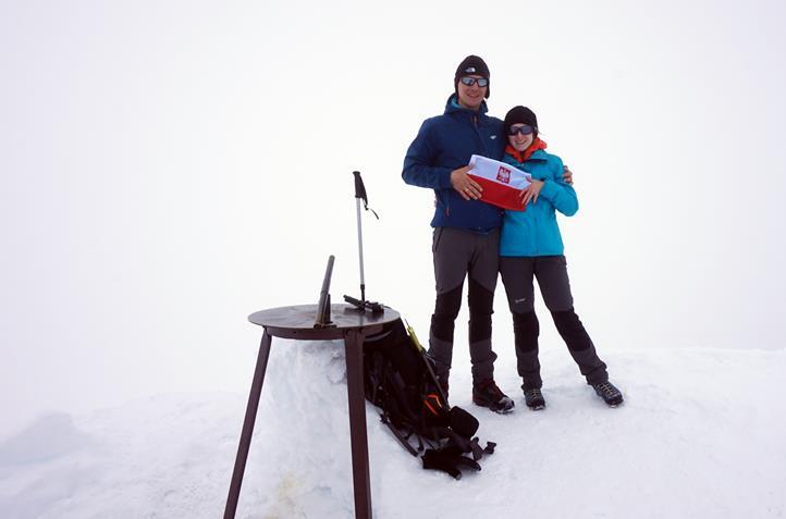 szczyt Galdhøpiggen 2469 m n.p.m.