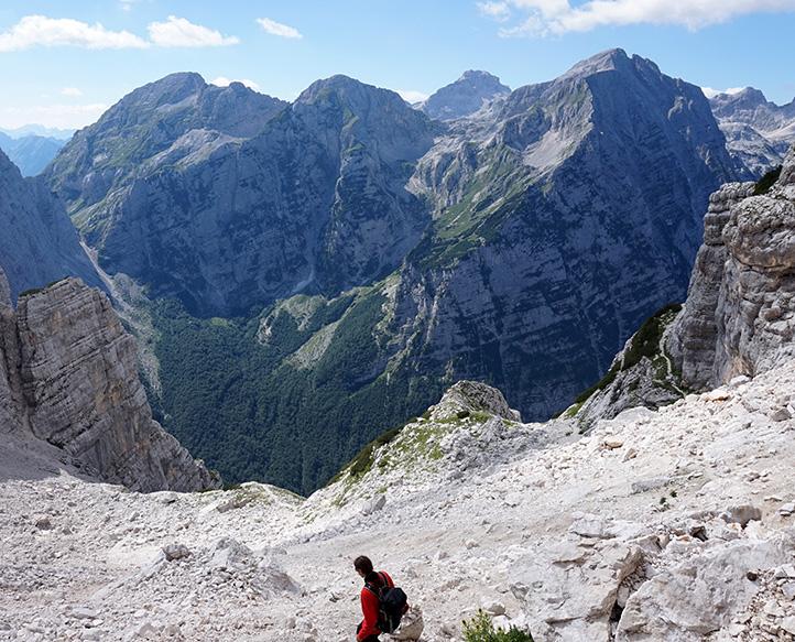 zejście do doliny Vrata