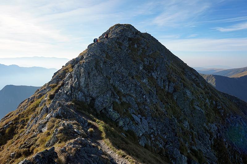 końcowa grań na szczyt Moldoveanu