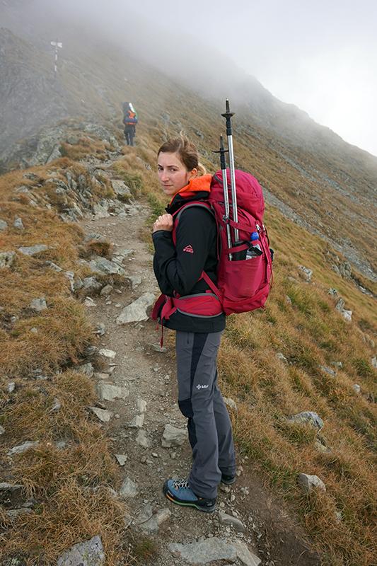 droga z przełęczy Saua Caprei w stronę grani