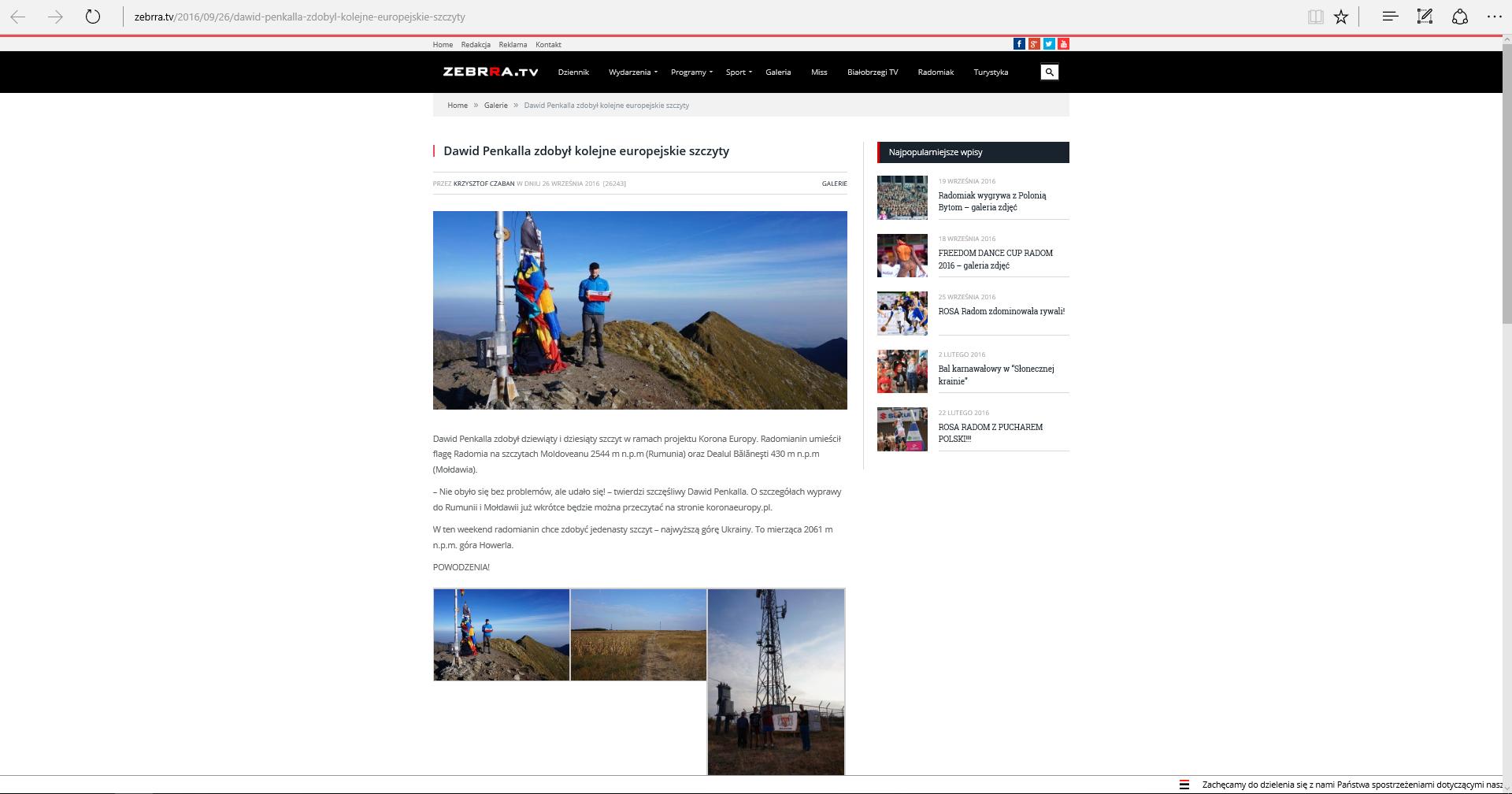 zebra.tv 26.09.2016 koronaeuropy.pl