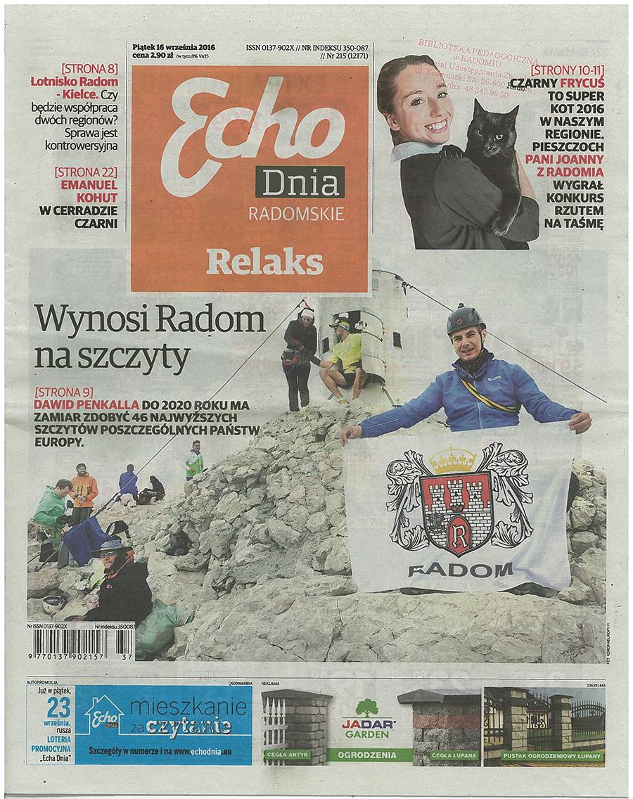 Echo Dnia, 16.09.2016