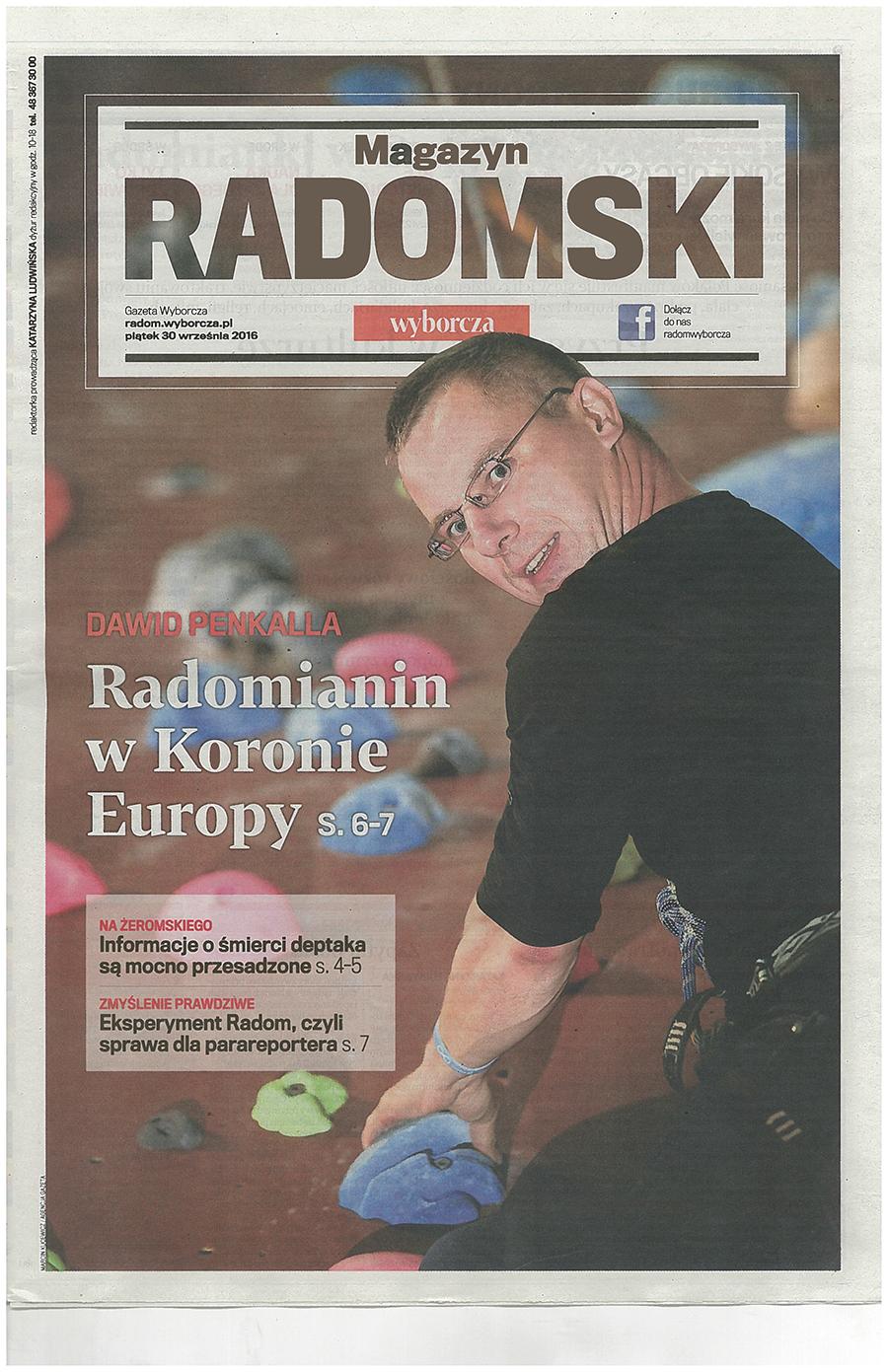 Gazeta Wyborcza, 30.09.2016