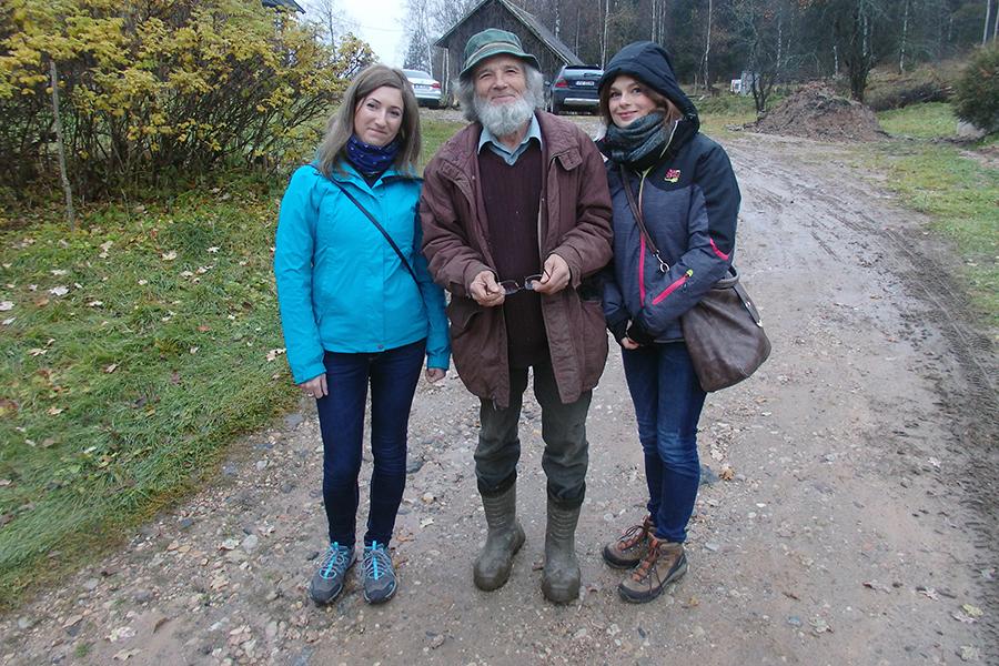 Lidka, Peter, Agnieszka - wjazd w złą drogę do wsi Piekūni