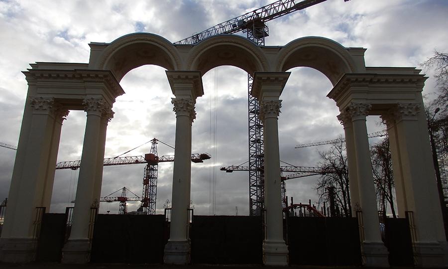 Białoruś, Mińsk, brama wejściowa na stadion miejski