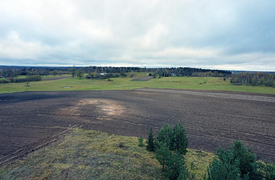widok z najwyższego szczytu Litwy