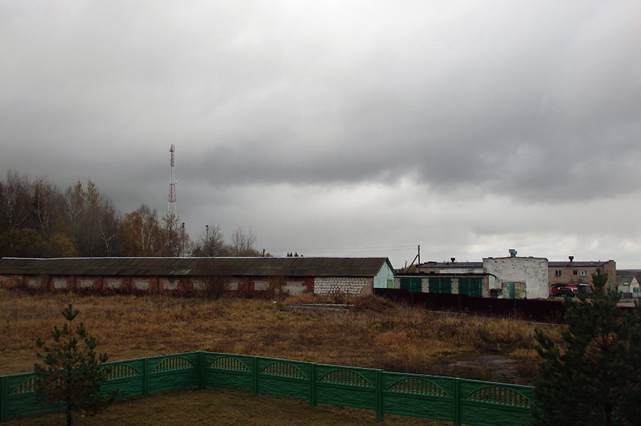 widok z najwyższego szczytu Białorusi, Dzierżyńska Góra 345 m n.p.m. (obórka)