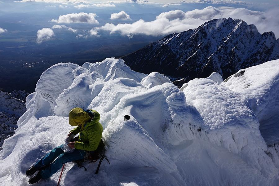 najwyższy szczyt Słowacji Gerlach 2655 m n.p.m. w tle Kończysta