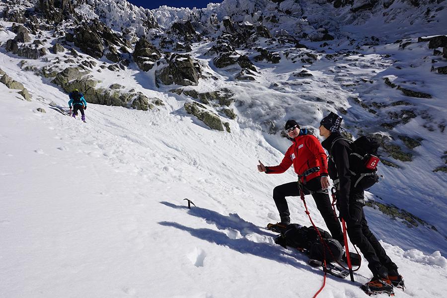 w drodze na najwyższy szczyt Słowacji