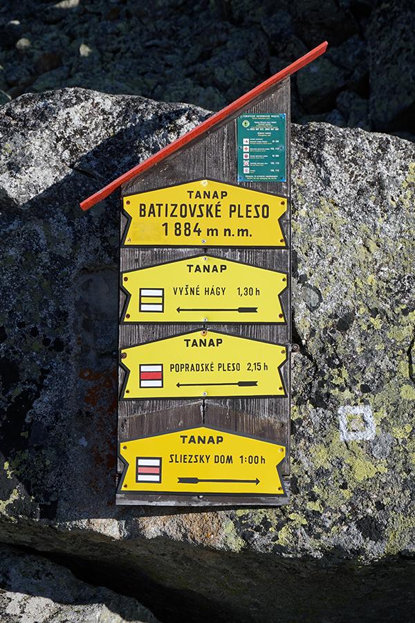 Batyżowiecki Staw (wysokość 1884 m n.p.m.), opis szlaków