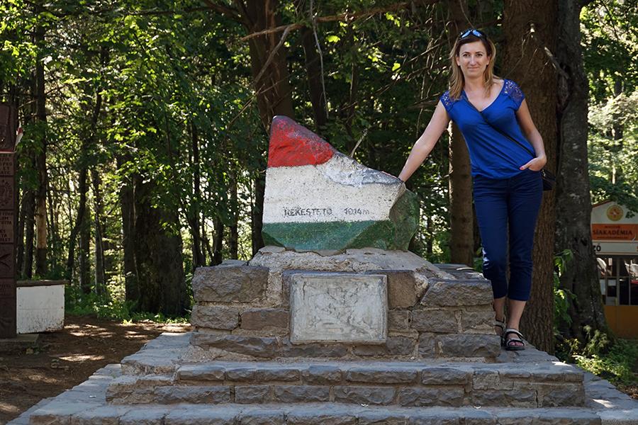 najwyższy szczyt Węgier - Kékes 1014 m n.p.m.