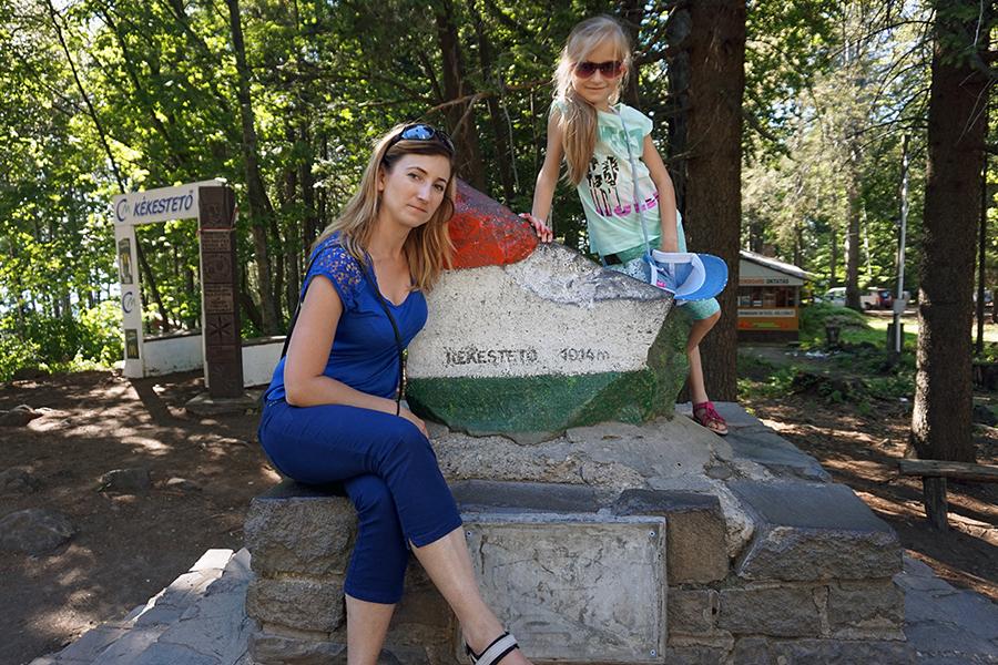 dziewczyny na najwyższym szczycie Węgier - Kékes 1014 m n.p.m.