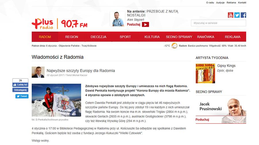 radio plus 02.01.2017 koronaeuropy.pl