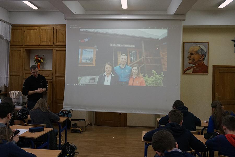 Spotkanie z uczniami Katolickiego Gimnazjum w Radomiu