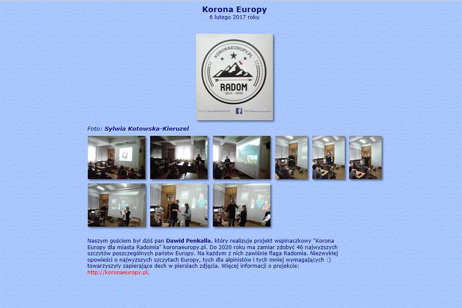 Spotkanie z uczniami Katolickiego Gimnazjum w Radomiu, materiał ze strony http://www.klo.radom.pl/