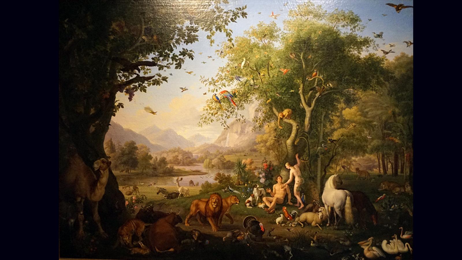 Wenzel Peter - Adam i Ewa w ogrodzie Eden