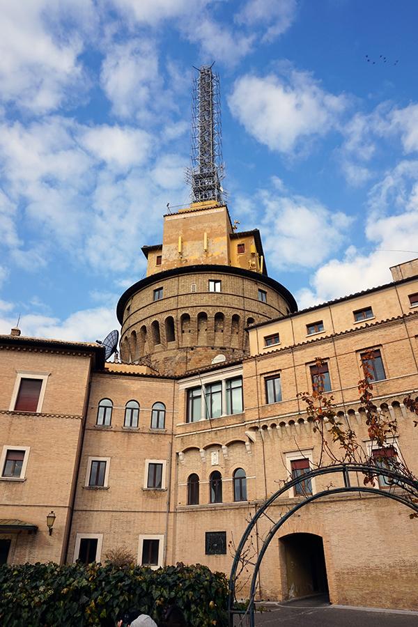 Budynek Radia Watykańskiego, budynek administracyjny.