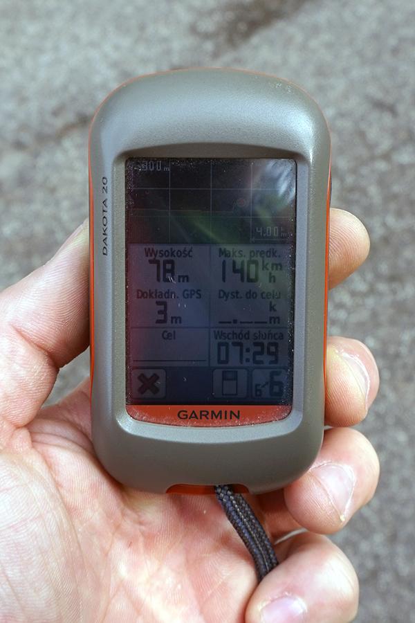 Najwyższy punkt Watykanu. 75 m n.p.m. GPS.