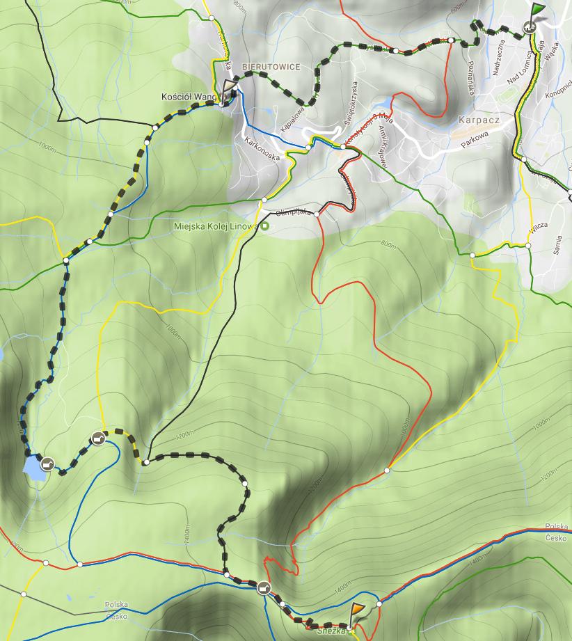 Karpacz - Śnieżka, mapa