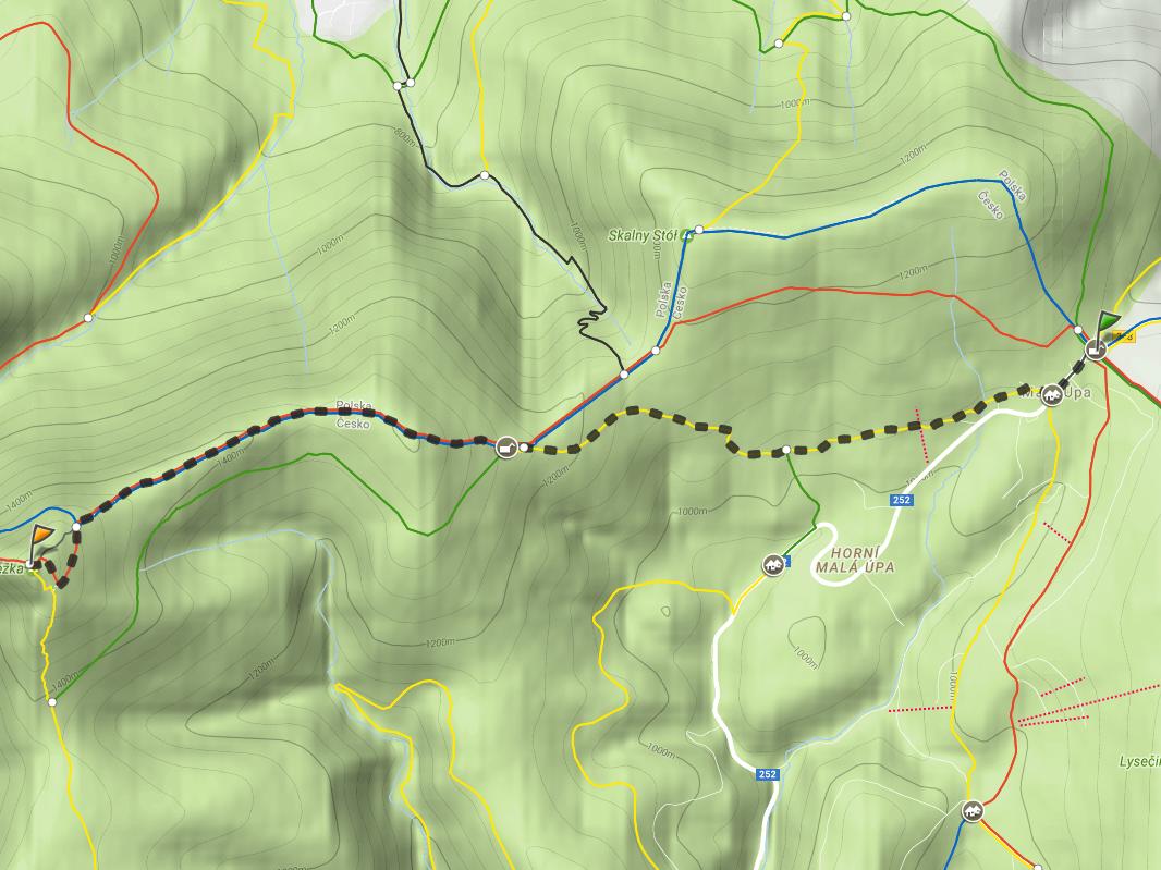schronisko na Przełęczy Okraj - Śnieżka, mapa