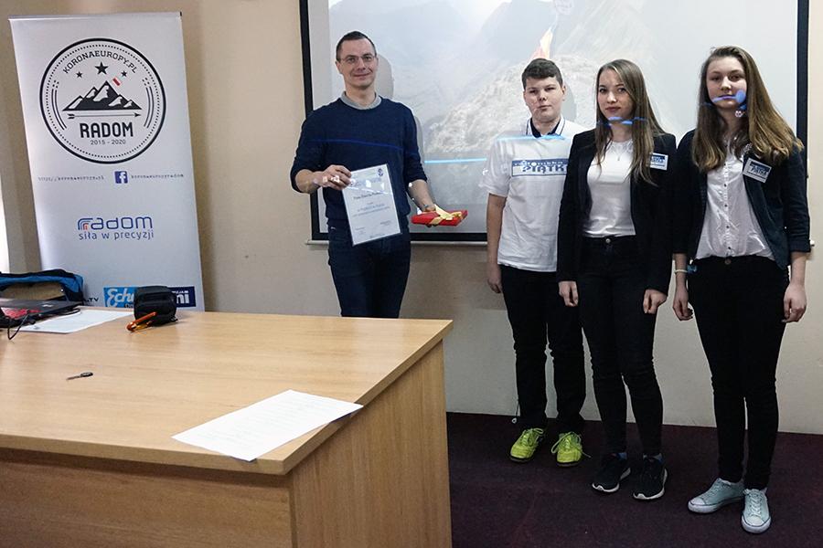 Spotkanie z uczniami Publicznego Gimnazjum numer 5 w Radomiu