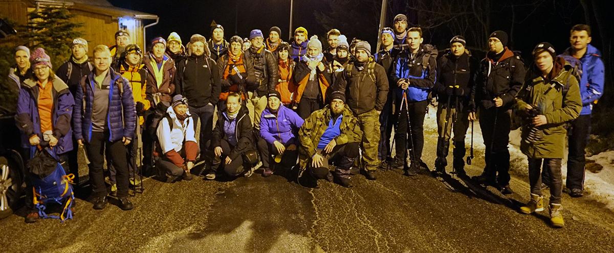 X nocne wejście na Śnieżkę, ekipa