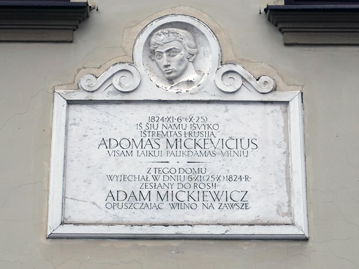 tablica na domu Adama Mickiewicza