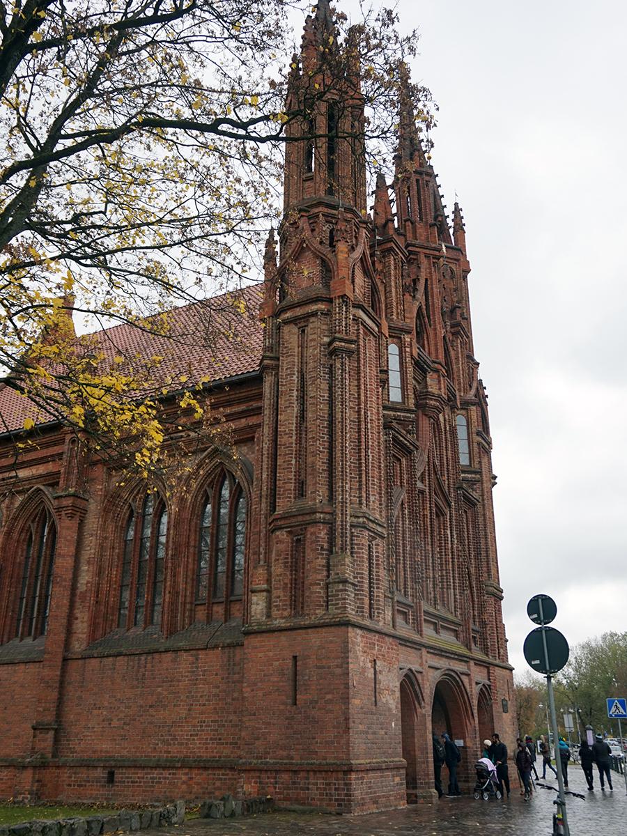 kościół św. Anny, piękny gotycki kościół
