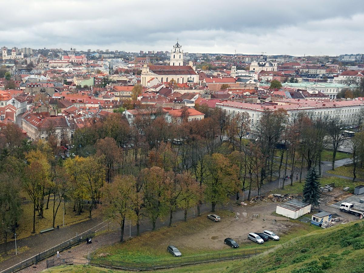 panorama Wilna ze wzgórza zamkowego