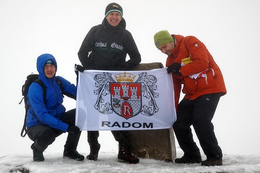 Ben Nevis, najwyższy szczyt Szkocji i Wielkiej Brytanii. Wysokość szczytu to 1344 m n.p.m. na szczycie Dawid, Damian i Karol (ludzie z Radomia)