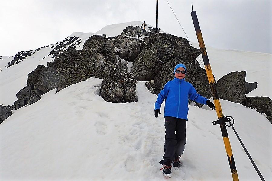 Kajetan w drodze na szczyt