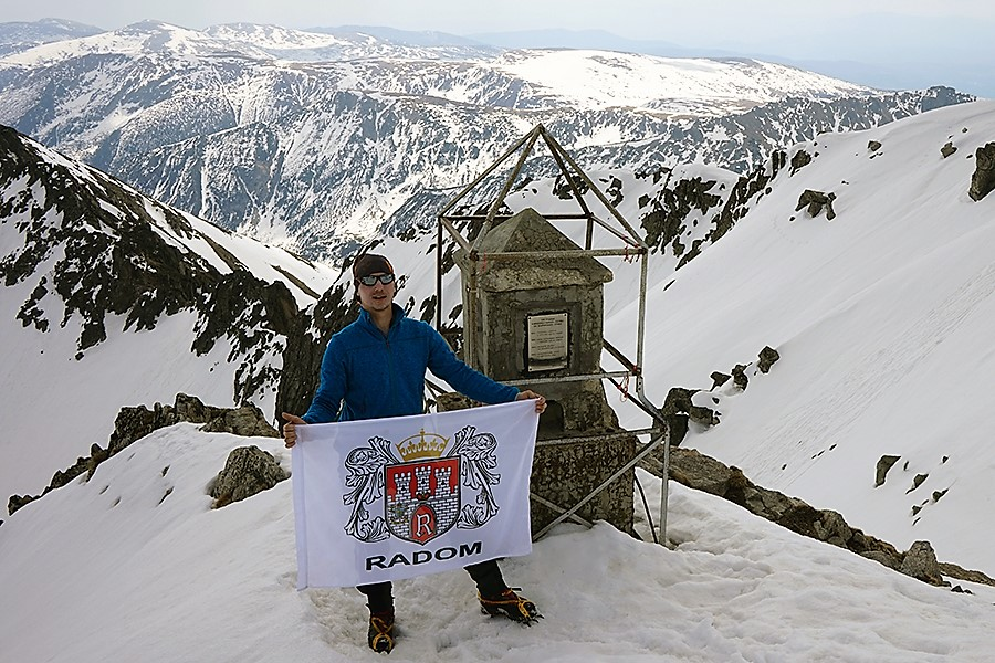 najwyższy szczyt Bułgarii, Musała 2925 m n.p.m. zdobyty w ramach projektu Korona Europy dla miasta Radomia