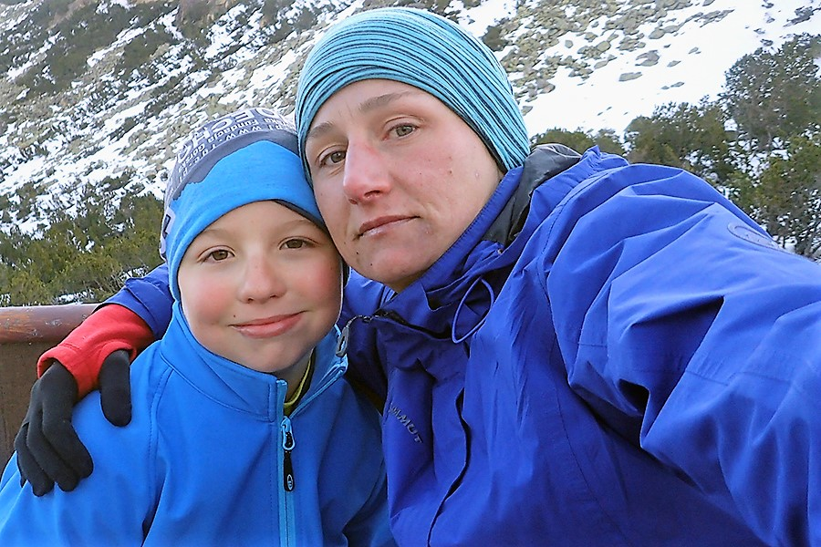 ekipa atakująca: Kajetan Szczeciński i jego mama Agata Szczecińska