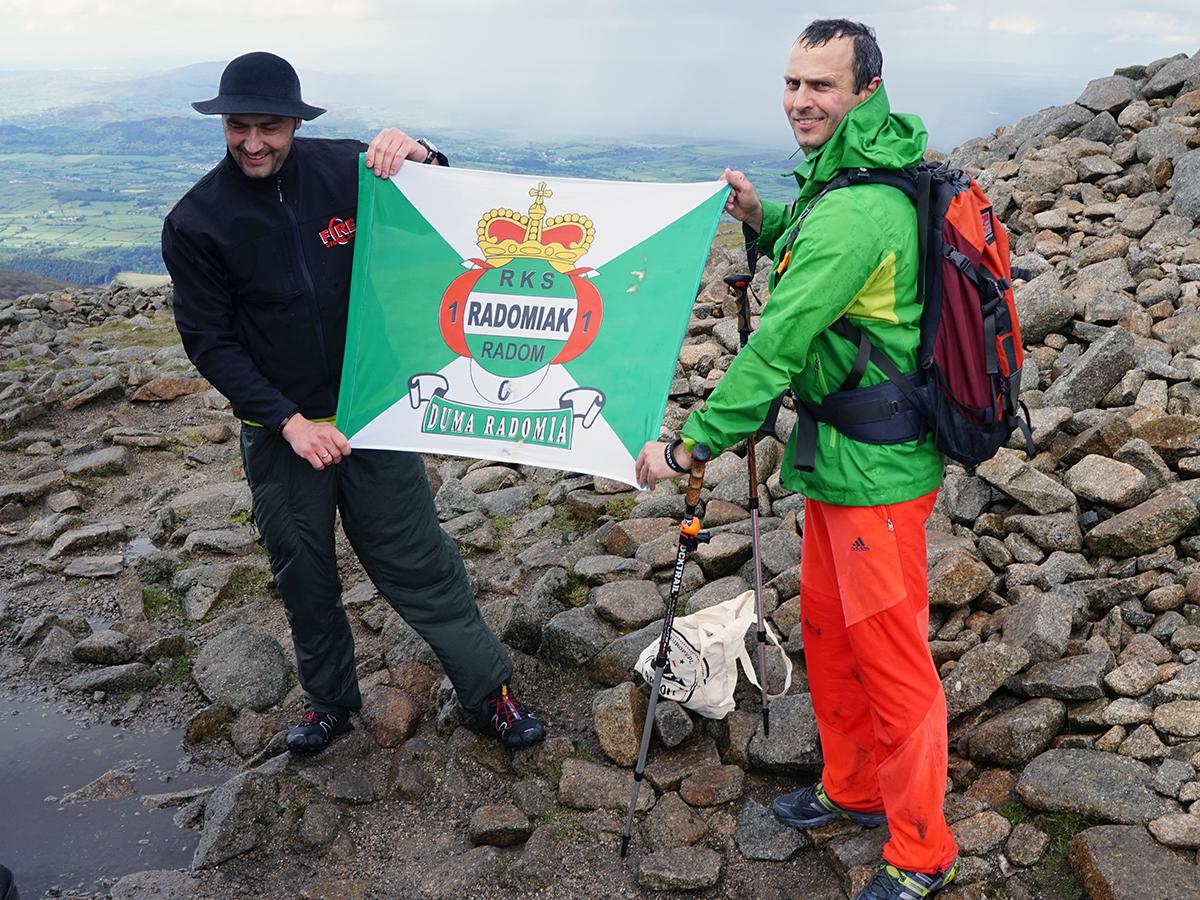 najwyższy szczyt Irlandii Północnej, Slieve Donard - 849 m n.p.m., RKS Radomiak