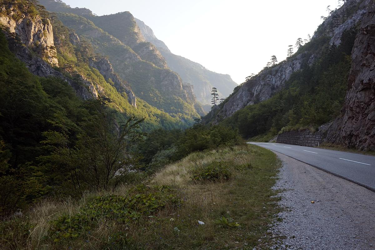 droga do Tjentište na drodze M20
