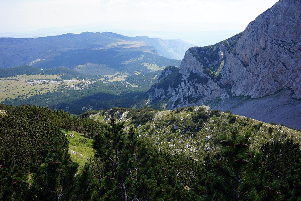 widok z wejścia na dolną część Bośni i Hercegowiny