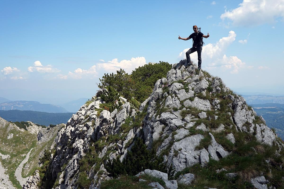 formacje skalne, wejście na Maglić