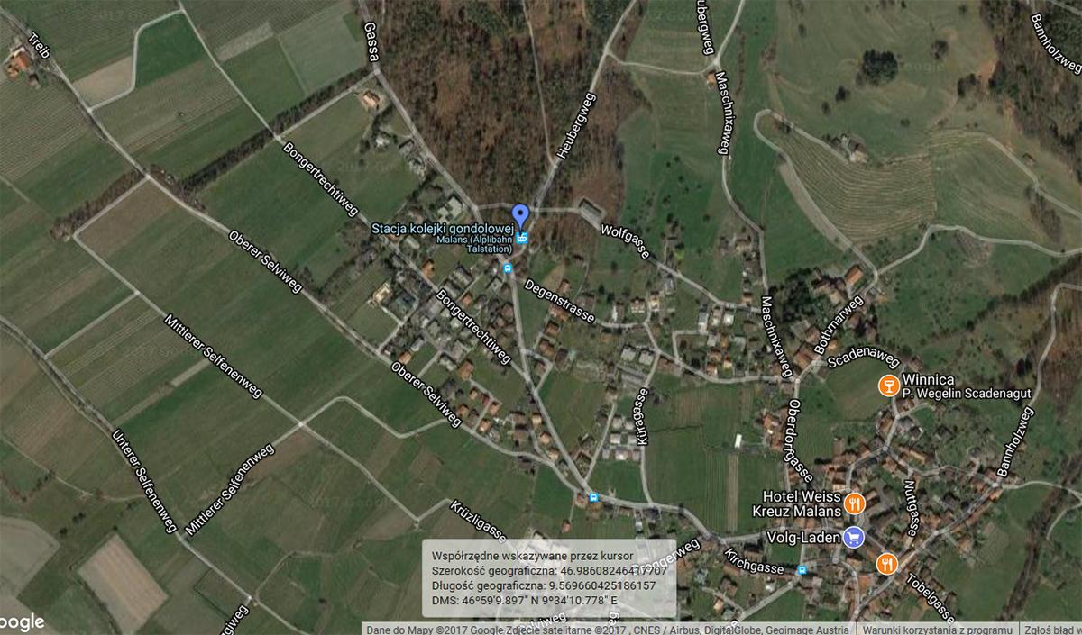 mapa dojazdu do kolejki gondolowej