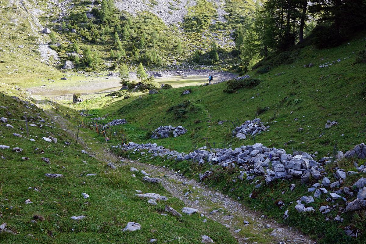 polana w drodze na szczyt Grauspitz