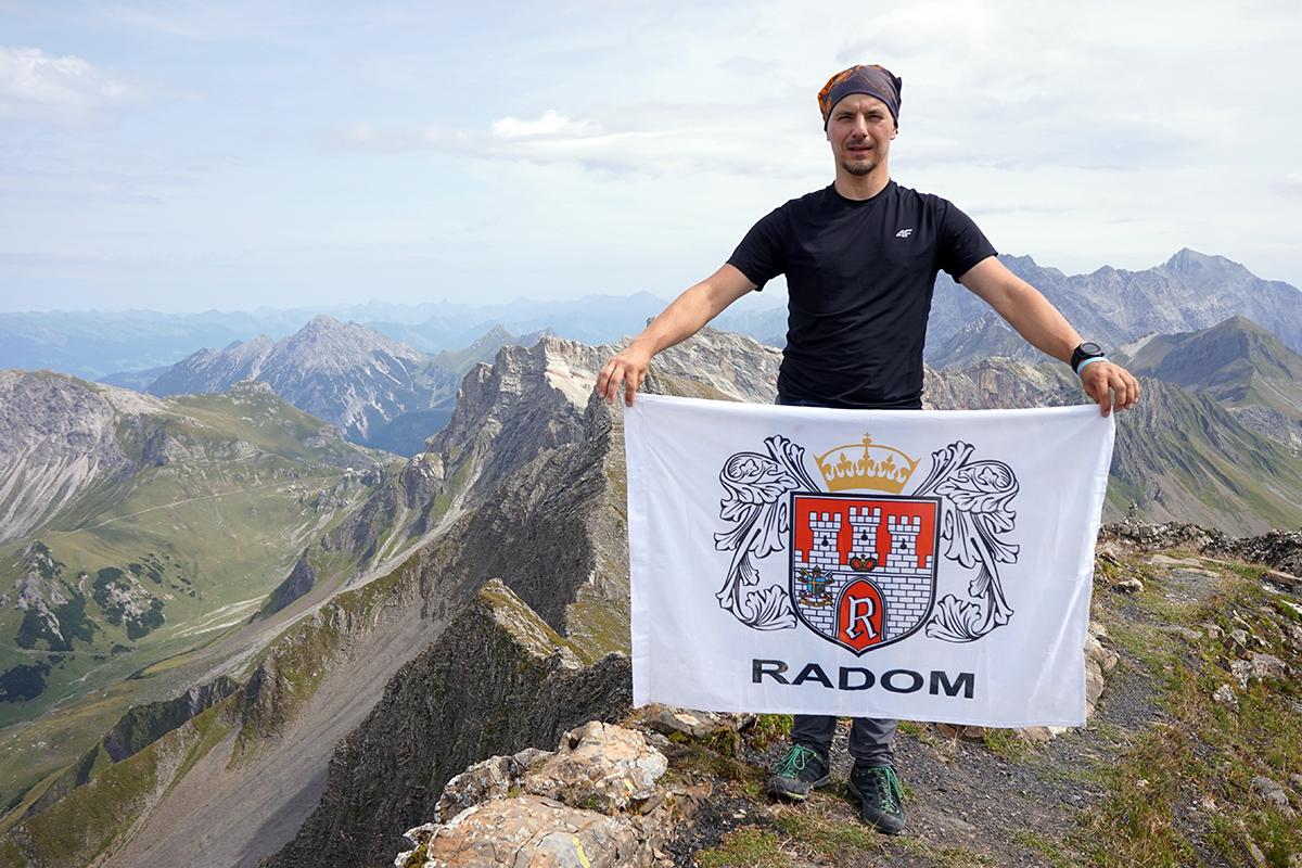 Radom na najwyższym szczycie Liechtensteinu - Grauspitz 2599 m n.p.m.