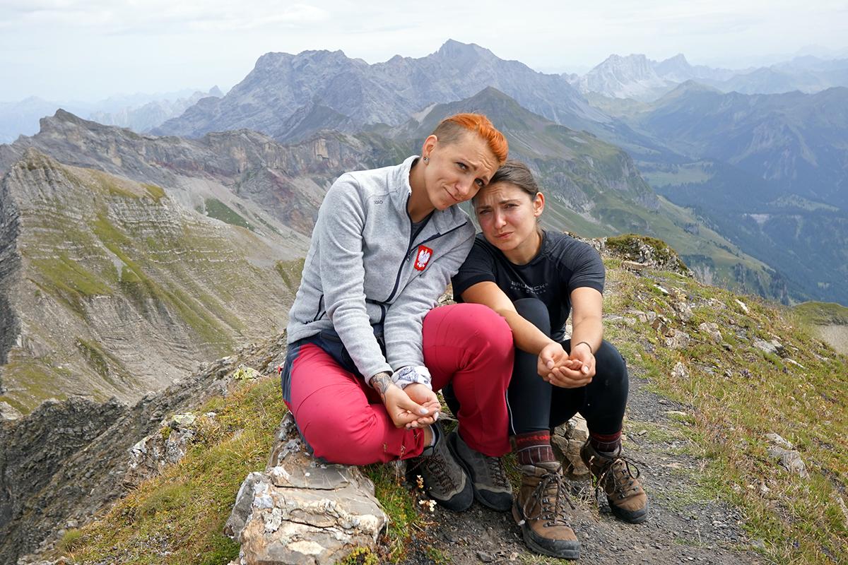 Justyna i Dominika - najwyższy szczyt Liechtensteinu - Grauspitz 2599 m n.p.m.