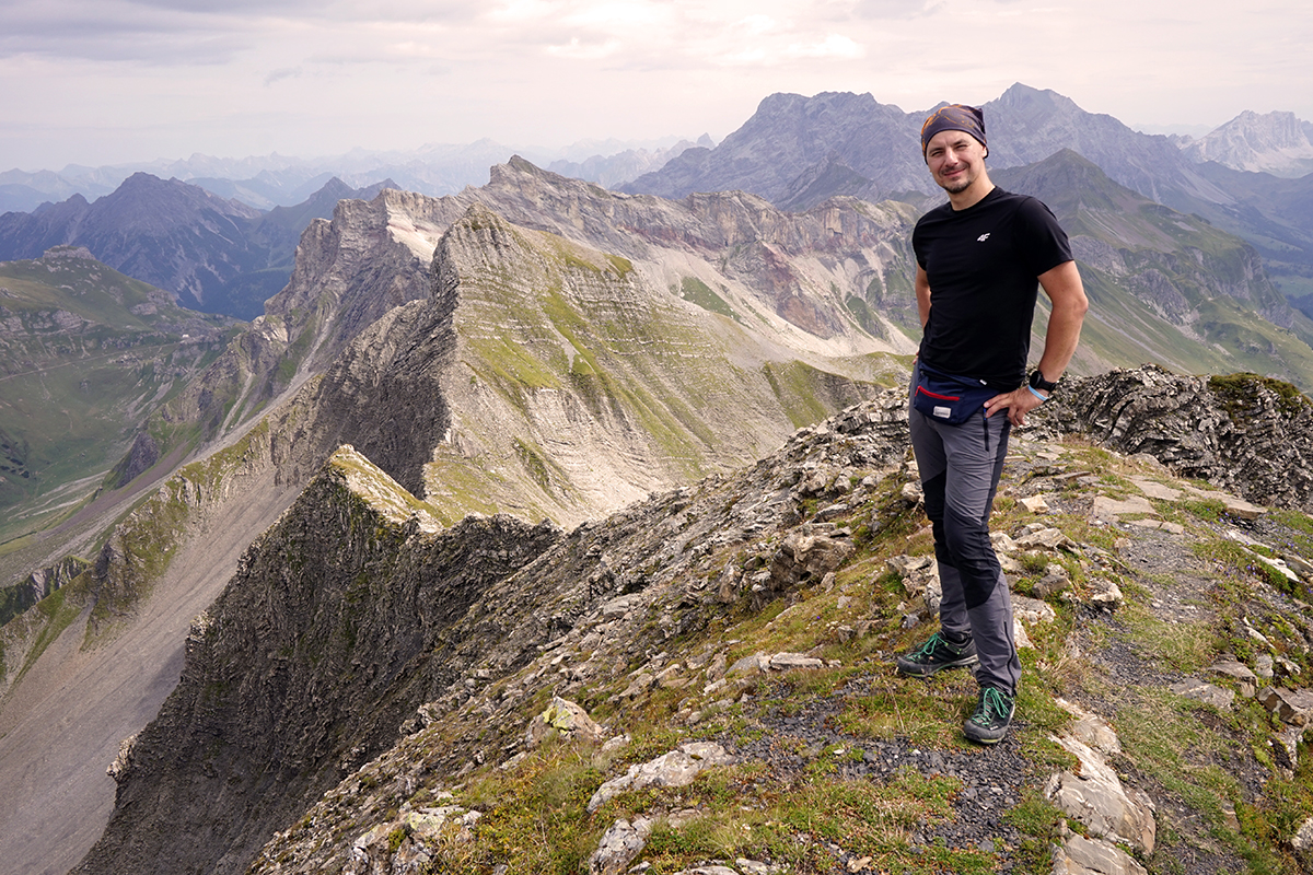 Dawid Penkalla - najwyższy szczyt Liechtensteinu - Grauspitz 2599 m n.p.m.