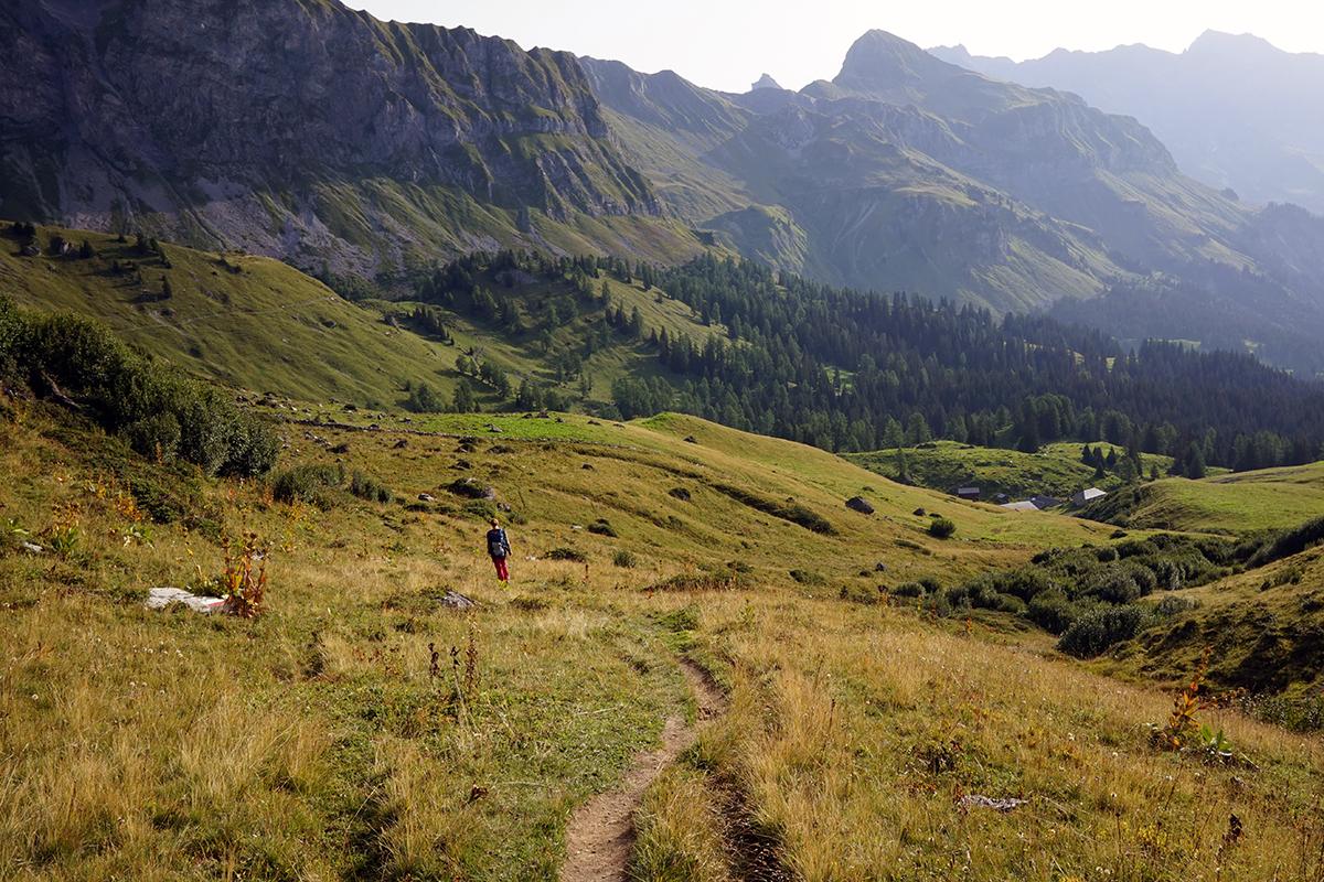 pierwsze kilometry drogi na Grauspitz