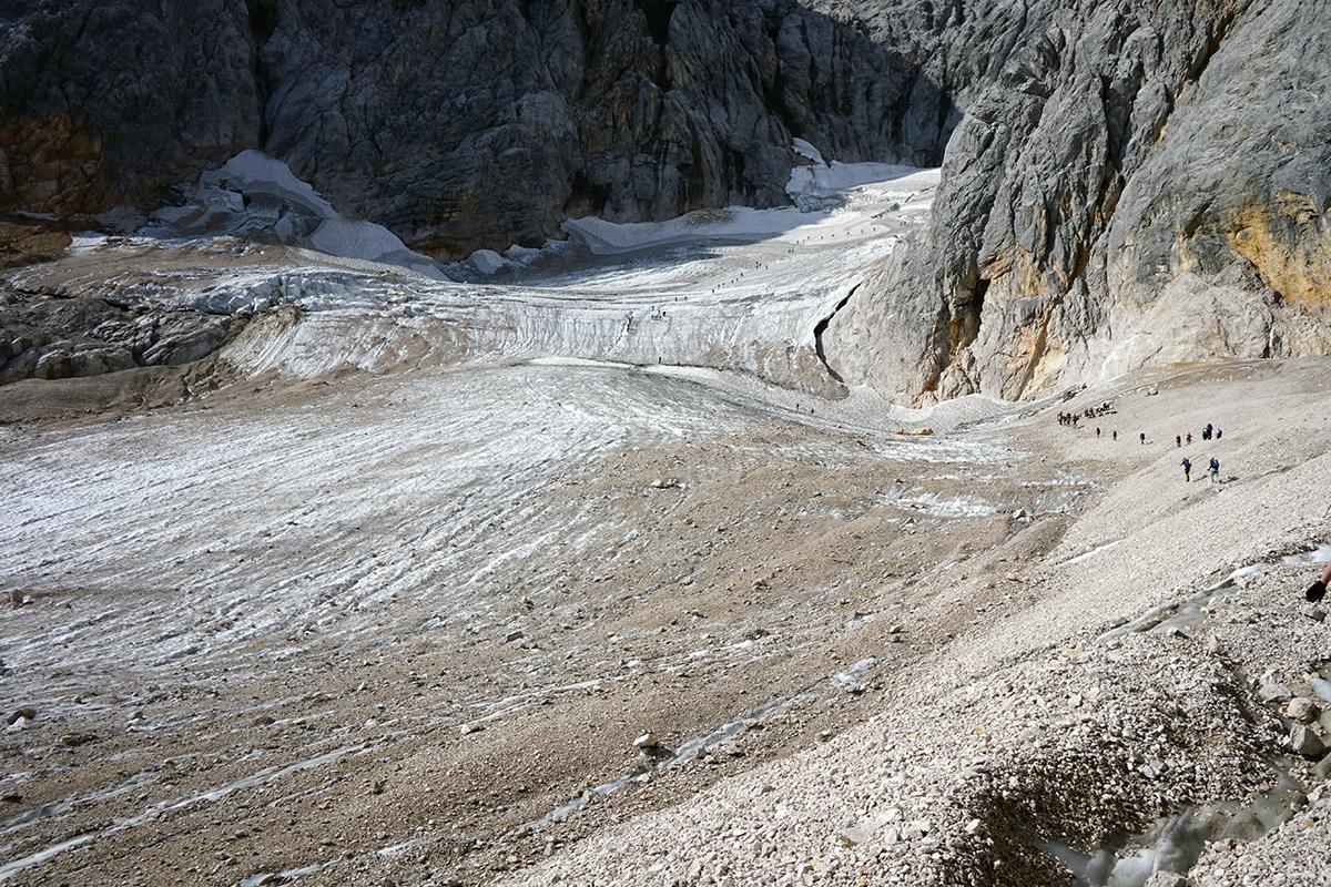 morena lodowca Höllentalferner