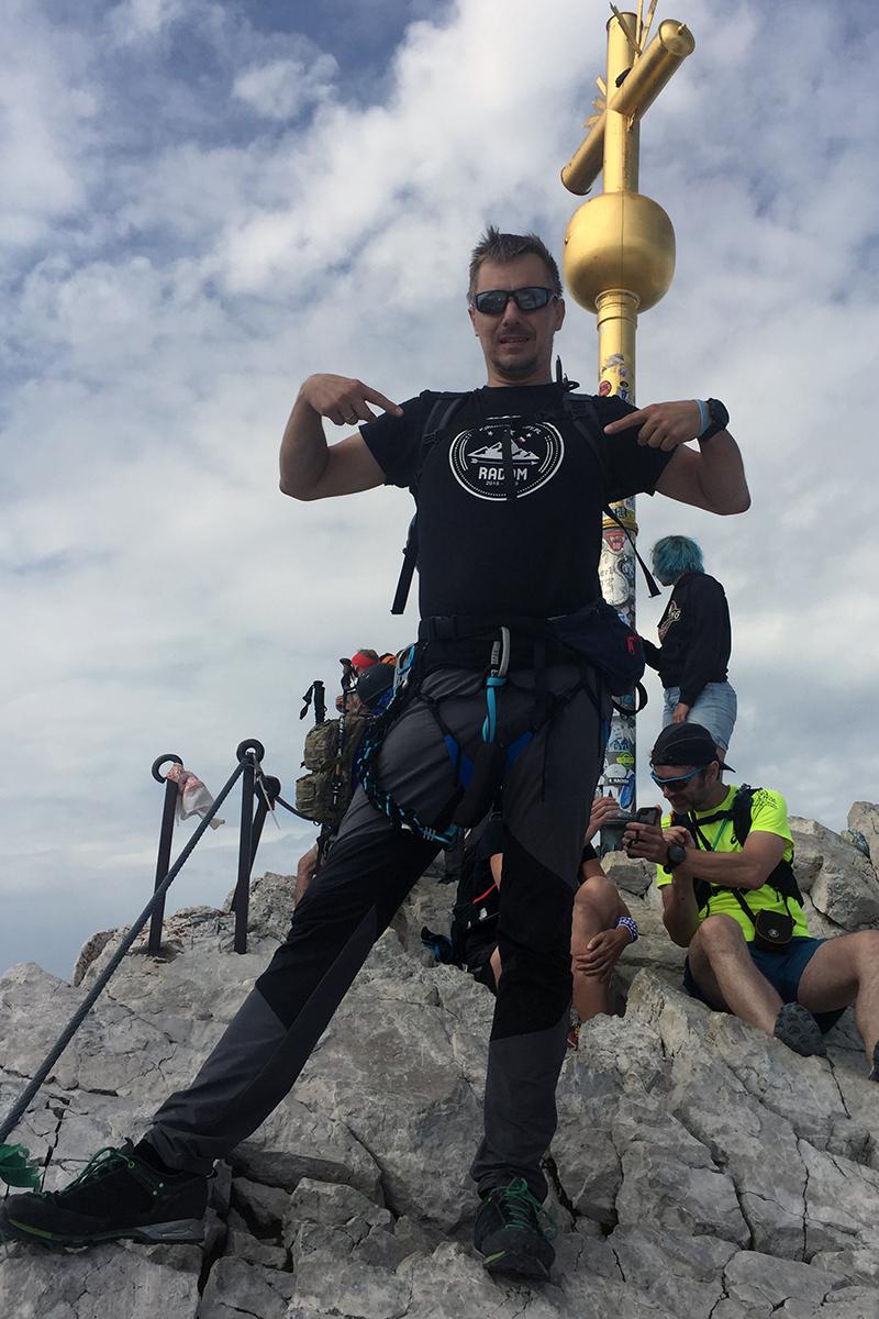 Zugspitze 2962 m n.p.m., najwyższa góra Niemiec