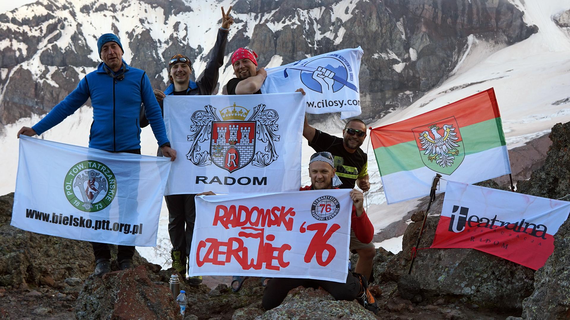 flagi miast ekipy: bielsko, radom, sosnowiec
