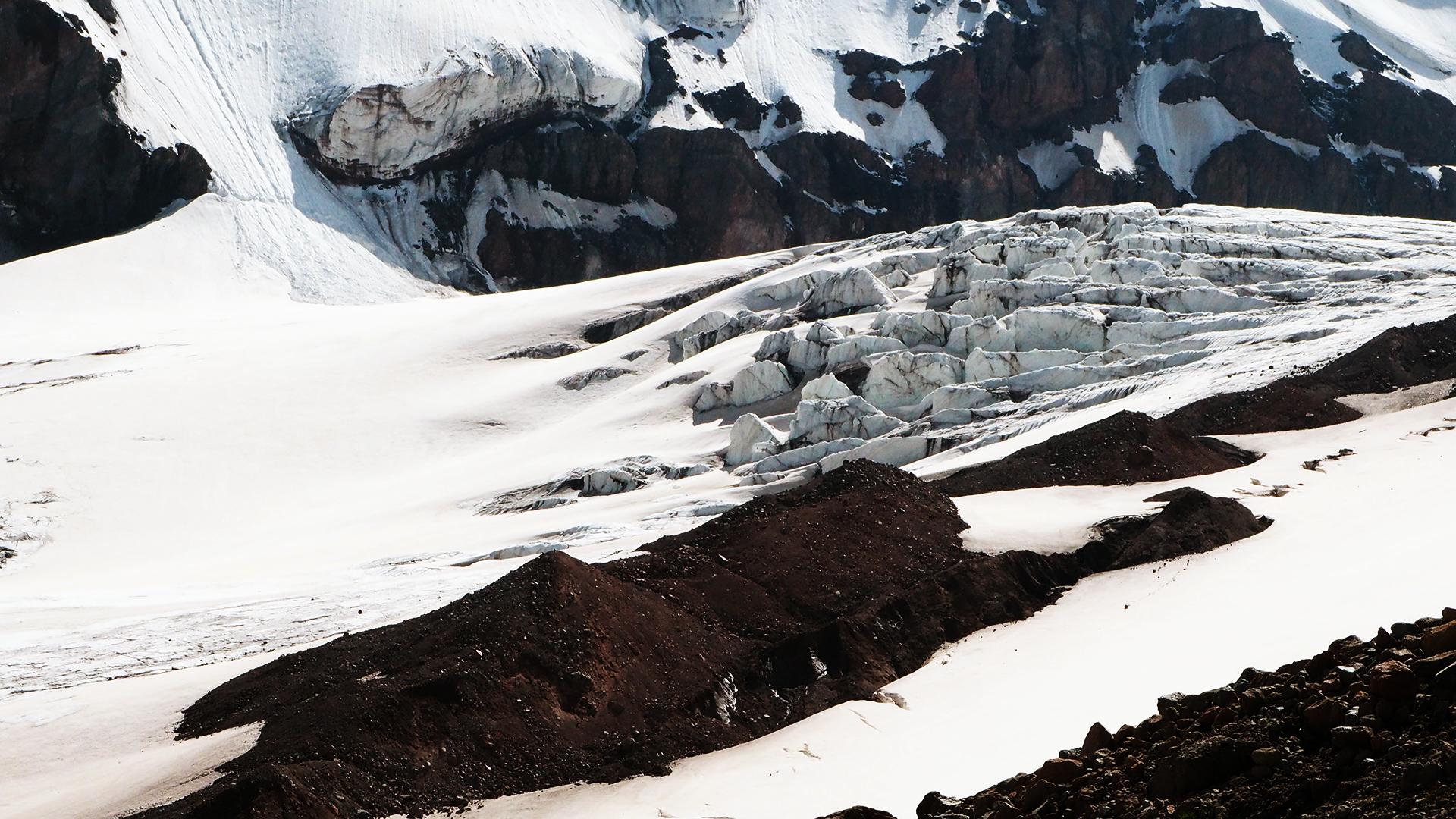 lodowiec Gergeti pod meteo