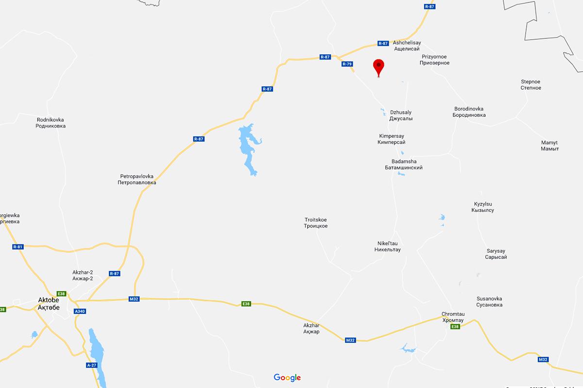 Kazachstan: mapa dojazdu z Aktobe na szczyt