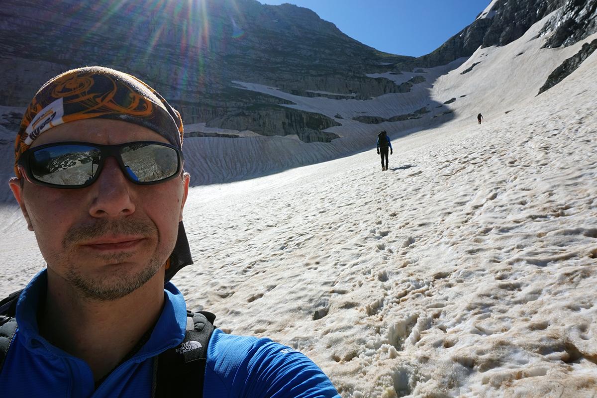 widok na siodło / przełęcz Dvojni Prevoj